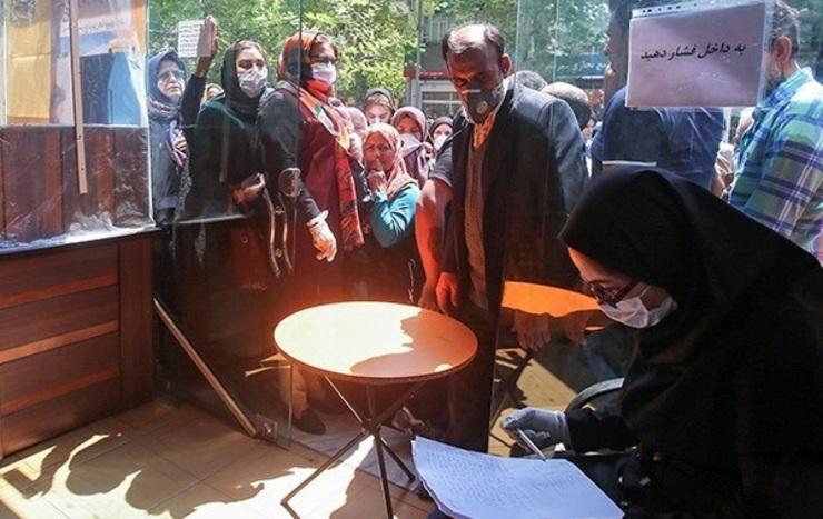 صف شهروندان شیرازی برای خرید روغن تا دریافت کد بورسی