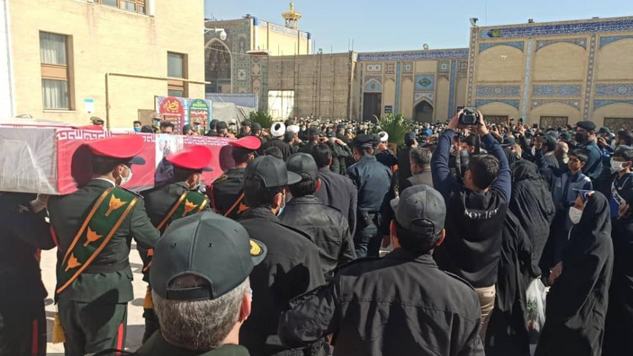 تشییع ۲شهید نیروی انتظامی در شیراز