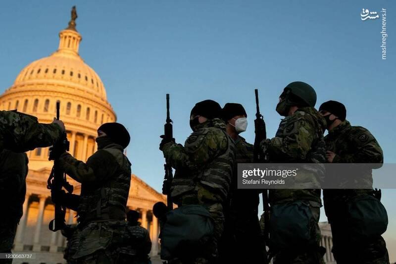 عکس/ سایه ترس بر سر واشنگتن؛ کاخ سفید پادگان نظامی شد!