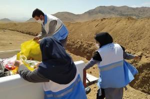 جمع آوری مواد غذایی غیر قابل مصرف در لامرد