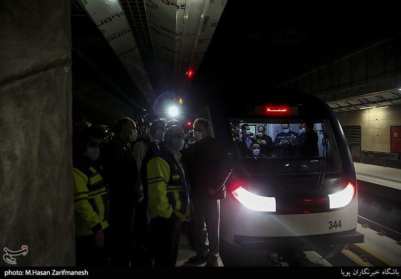 بازدید شبانه از مترو تهران
