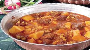 طرز تهیه خورش به با لپه، خورش شیرین زمستانی
