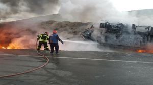 راننده تانکر نفت زنده زنده سوخت