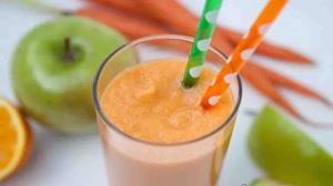 اسموتی هویج، سیب و زردچوبه