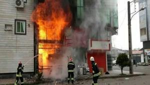 آتش گرفتن 6 خانه ویلایی در رشت