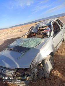 ۴ مصدوم در واژگونی خودرو در محور عشق آباد_بردسکن