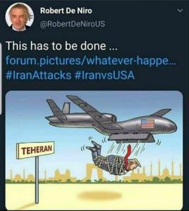 رابرت دنیرو: ترامپ را تحویل ایران دهید