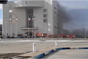 شهرداری رشت آتش گرفت