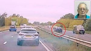 رانندگی خلاف جهت مرد سالخورده در اتوبان حادثه آفرید