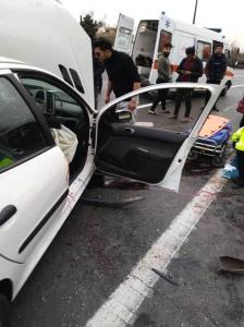 قطع 2 پای راننده 206 در تصادف با گاردریل