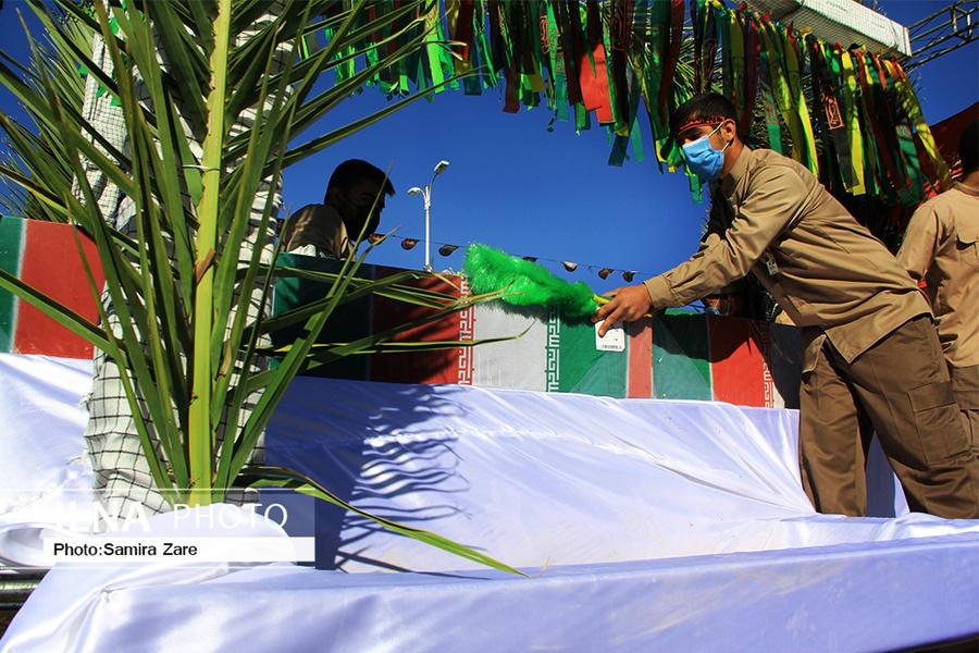 مراسم تشییع پیکر شهدای گمنام در شیراز