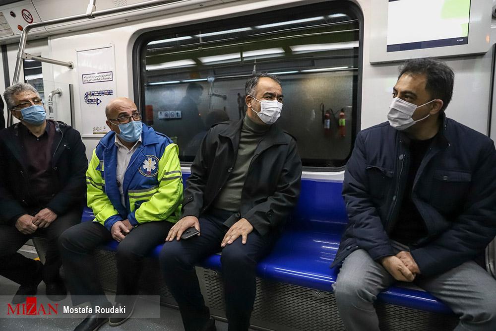 بازدید شبانه از وضعیت متروی تهران
