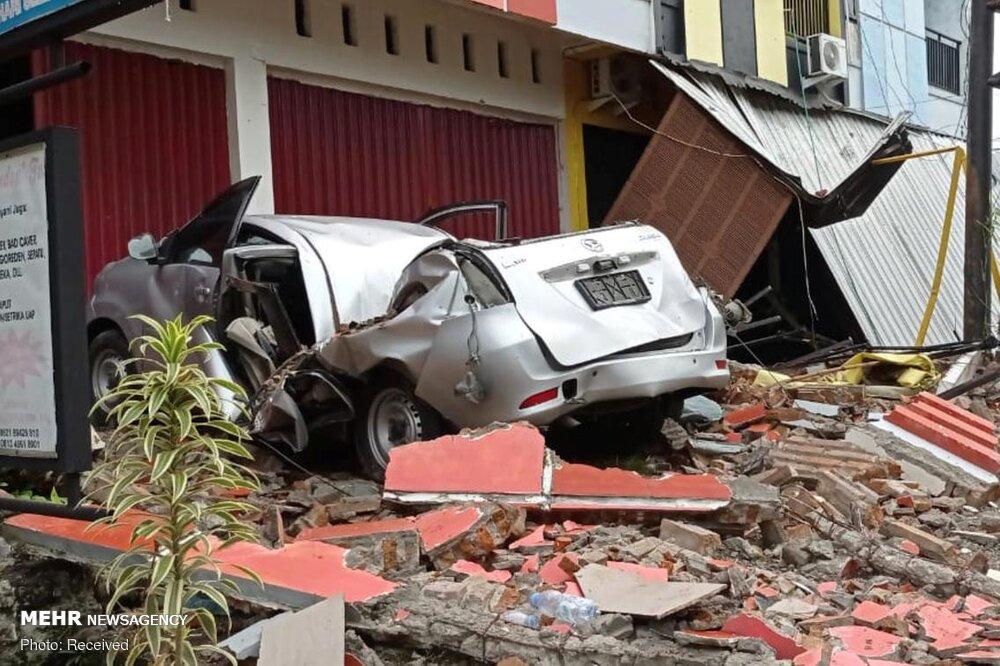 عکس/خسارات زلزله شدید ۶.۲ ریشتری در اندونزی