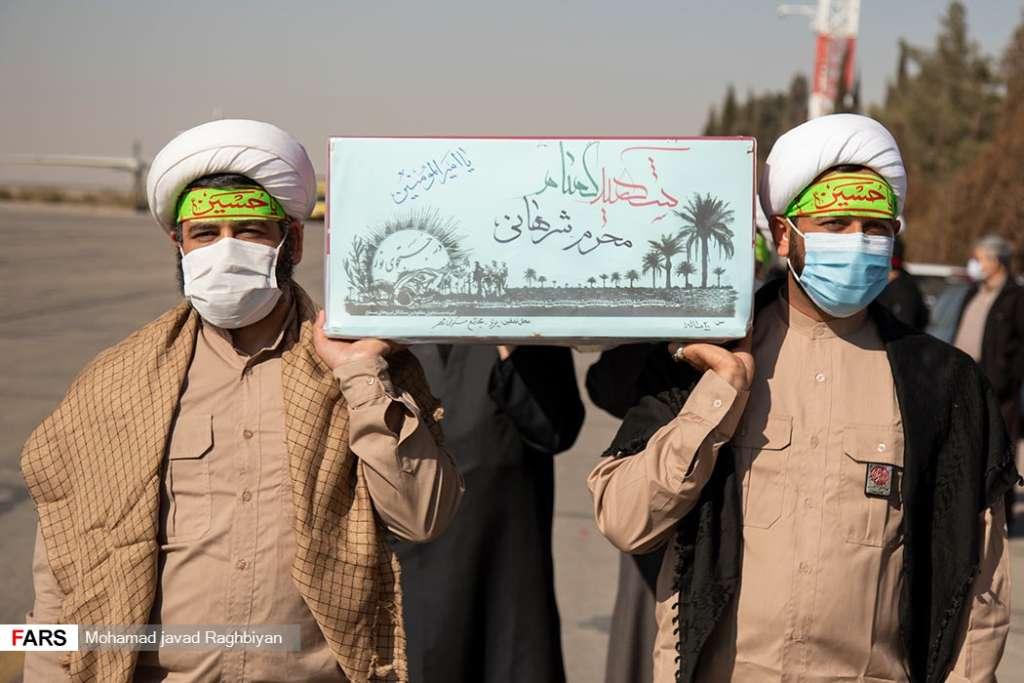 استقبال از پیکر شهدای گمنام در یزد