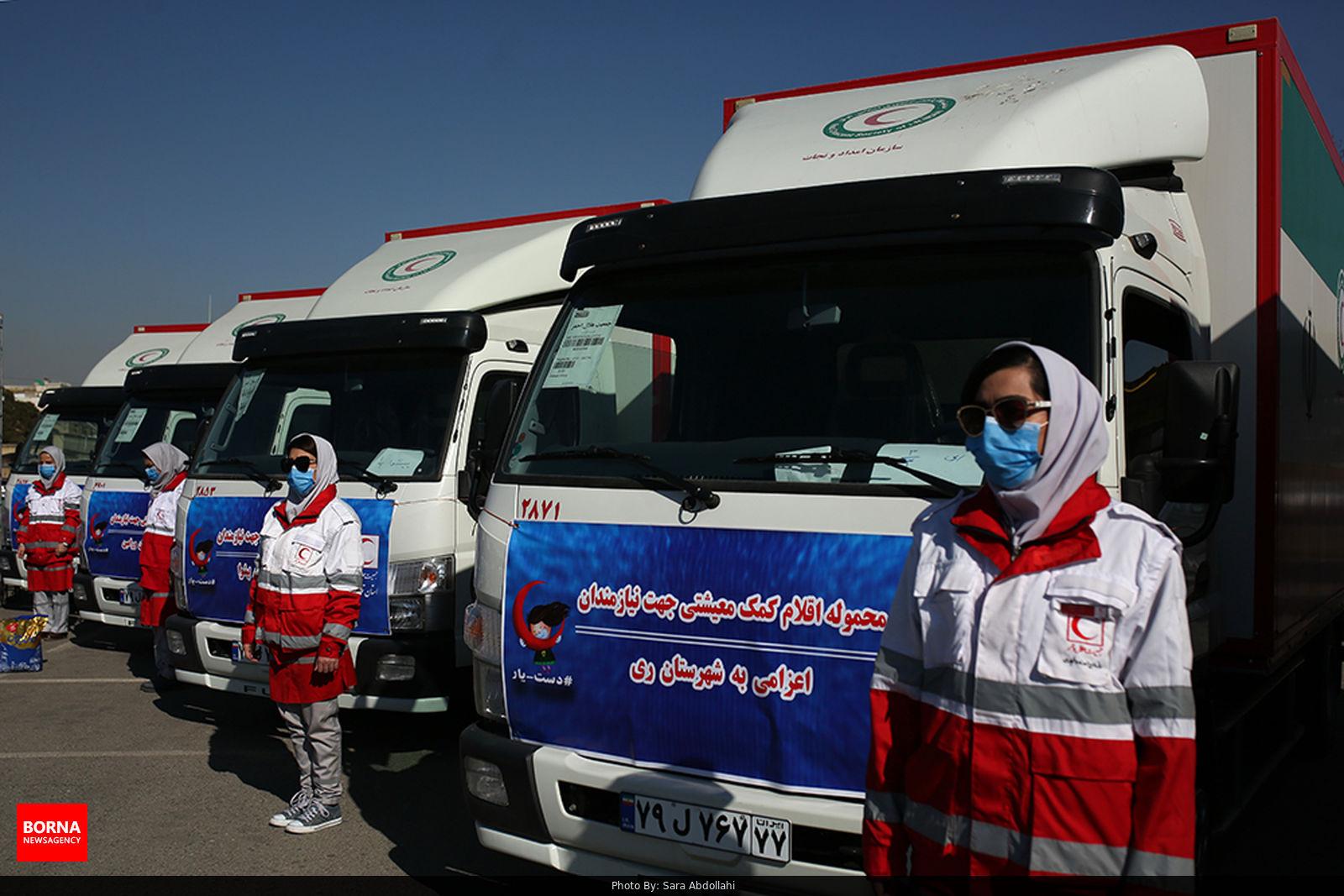 عکس/ توزیع ۴۴۲۰ بسته کمک معیشتی در تهران