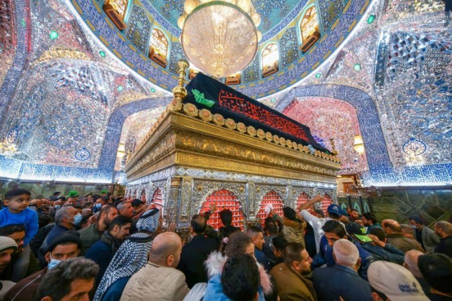 عکس/ آستان مقدس علوی در ایام شهادت حضرت زهرا(س)