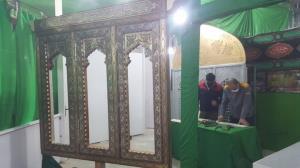 عکس/ افتتاح کارگاه ساخت پنجرههای سرداب امام زمان(عج) در زرندیه