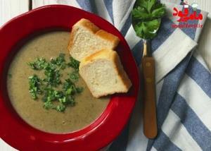 طرز تهیه سوپ قارچ خامه ای لطیف