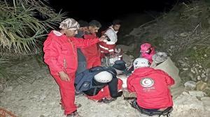 نجات کوهنورد مصدوم در ارتفاعات خاییز تنگستان