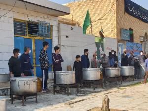 پخت غذای نذری جمعی در اروندکنار