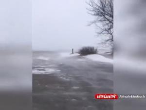 بارش شدید برف در نبراسکای آمریکا