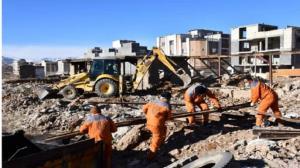 تخریب یک بنای غیرمجاز در شهرکرد