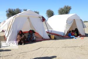 برپایی ۳ اردوگاه اسکان اضطراری در روستاهای مناطق زلزلهزده هرمزگان