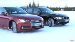 تفاوت رانندگی با بی ام و و آئودی در برف