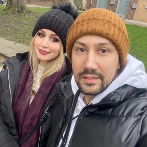 چهرهها/ شاهرخ استخری و همسرش در بلژیک