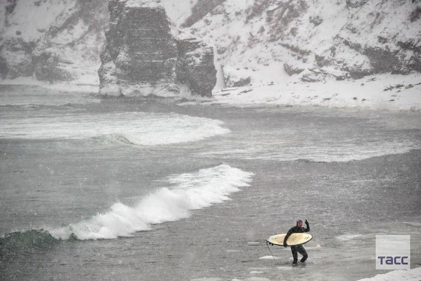موج سواری زمستانی در روسیه