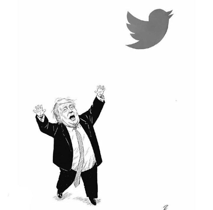 کارتون/ مرغ ترامپ از قفس پرید!