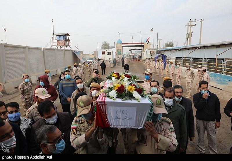 عکس/ ورود پیکر ۵۵شهید تازه تفحصشده از مرز شلمچه