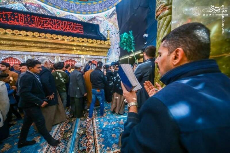 عکس/ حال و هوای نجف اشرف در روز شهادت حضرت زهرا(س)