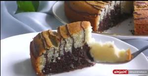 صفر تا صد تهیه کیک دو رنگ ساده برای عصرانه