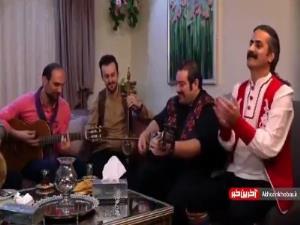 بزن و بکوب بازیگران در مهمانی شام ایرانی