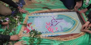 پیکر شهید گمنام در قم تشییع شد