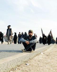 حال و هوای محسن افشانی در مسیر کربلا