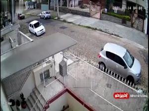 سرقت ماشین پلیس در برزیل!
