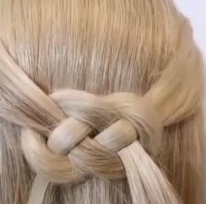 آموزش ترفند بافت مو حصیری ساده و شیک