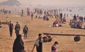 ازدحام جمعیت در سواحل بندرعباس + تصاویر