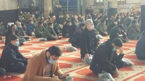 وداع با پیکر شهید سیدابوالفضل حسینی در نیشابور