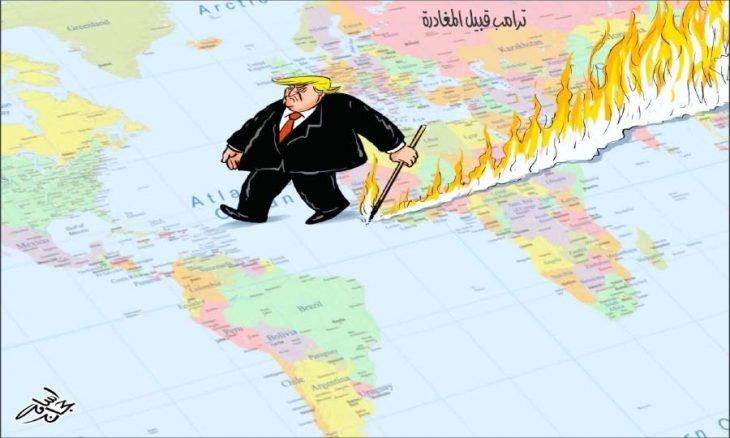 کاریکاتور/ آخرین جرعه جام تهی ترامپ قبل از ترک کاخ سفید