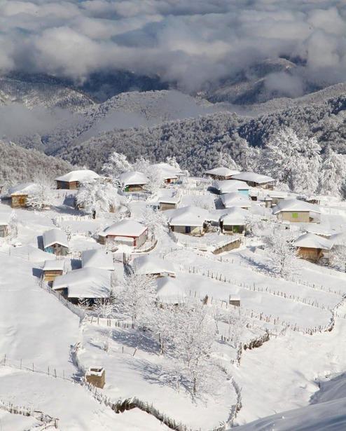نمای برفی ارتفاعات تالش