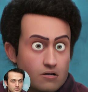 وقتی بازیگران مرد ایرانی کاراکترهای دیزنی می شوند!