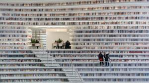 کتابخانهای شگفتانگیز با کوهی از کتاب در چین!