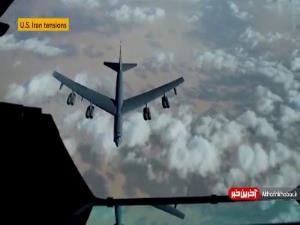 تصاویر سوختگیری بمبافکنهای B-52 بر فراز آسمان خاورمیانه