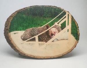 آموزش تکنیک بسیار ساده برای چاپ عکس روی چوب