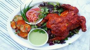 نهار/ مرغ تنوری فوق العاده خوشمزه به روش هندی ها