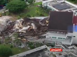 تصاویری از زلزله اندونزی و جستجوی قربانیان