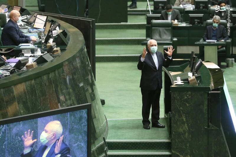 عکس/ حضور ظریف در صحن علنی مجلس